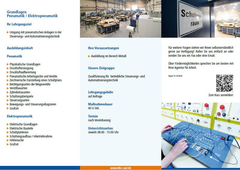 Grundlagen Pneumatik / Elektropneumatik - Landkreis Schwandorf Regional