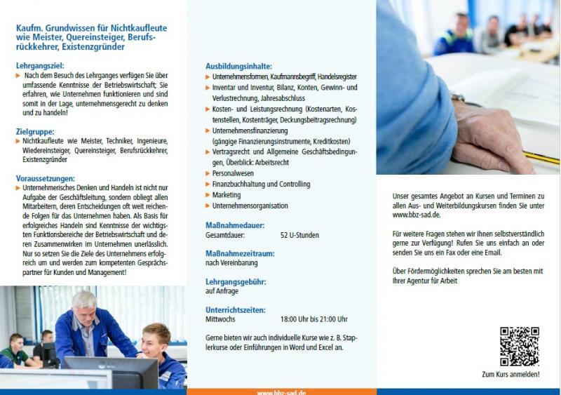 Kaufm. Grundwissen für Nichtkaufleute - Landkreis Schwandorf Regional